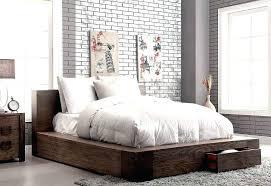 low platform beds with storage.  Platform Low Profile Platform Bed Frame Storage In Rustic Finish Trent Modern    And Low Platform Beds With Storage O