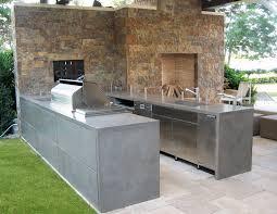 concrete kitchen countertops patio contemporary with