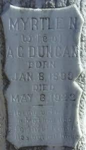 Myrtle Nima Carmack Duncan (1893-1922) - Find A Grave Memorial
