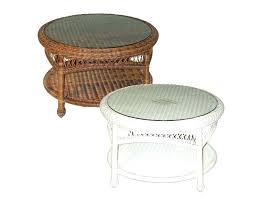 round wicker coffee table outdoor glass top side lovely medium size trunk australia