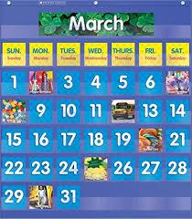 Magnetic Pocket Chart Squares 68 Problem Solving Monthly Calendar Pocket Chart