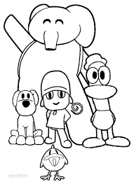 Printable Pocoyo Coloring Pages For Kids Cool2bkids Film Tv