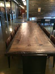 amazing dining table reclaimed wood conference room office with regard to 12 foot long dining room table ideas