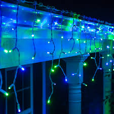 LED Christmas Lights - 70 5mm Blue, Green LED Icicle Lights