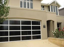 inspirations garage door aluminium frame with dark bronze polycarbonate multiwall inserts