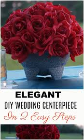 diy quinceanera decorations southwestern flair red rose diy wedding or quincenera centerpiece