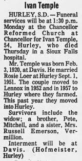 Ivan Lamont Temple obituary - Newspapers.com