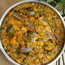 Quater Seafood Okra Soup ...