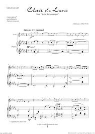 clair de lune sheet music guitar debussy clair de lune sheet music for violin and piano