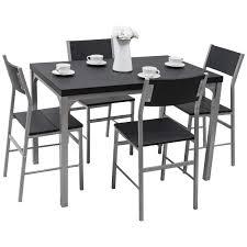 Amazoncom Tangkula Dining Table Set 5 Pcs Modern Kitchen Dining