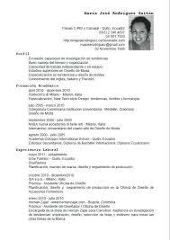 Resume Template In Spanish Custom Curriculum Vitae Espanol Resume Template In Spanish Us Entire Plus