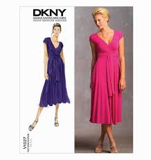 Vogue Dress Patterns Beauteous Vogue Patterns 48 DKNY Knit Wrap Dress Bettina's Blog