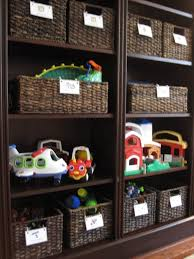 Toy Organization For Living Room Furniture Intriguing Dark Rattan Storage Units For Kids Toys With