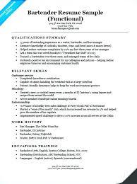 Bartending Description For Resume Bartender Resume Head Sample