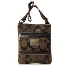Coach Legacy Swingpack In Signature Small Coffee Crossbody BagsA