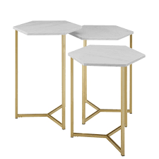 nesting furniture. WE Furniture Hallway Hex Nesting Tables - Faux White Marble/ Gold, Set Of 3  : \u0026 Table Sets Best Buy Canada Nesting Furniture R