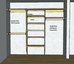 closet pole height control closet design double closet rod mounting height