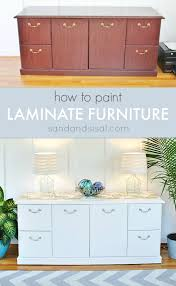 paint laminate furnitureHow to Paint Laminate Furniture  Sand and Sisal