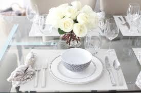 white table settings. Interesting White Table Settings With Host An Elegant Black Dinner House Interiors R