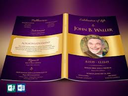 Funeral Program Word Template Extraordinary Regal Funeral Program Word Publisher Template Etsy