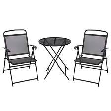 patio bistro set 3 piece outdoor table chairs wrought iron black black wrought iron patio furniture
