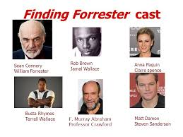 do now take out something to write and your  2 finding forrester