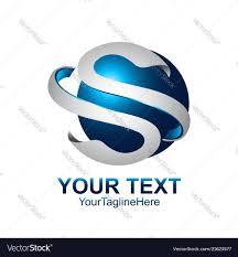 Graphic Letter Design Online Letter S Logo Design Template Colored Silver Blue