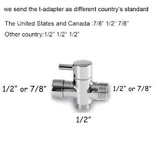 Aliexpresscom  Buy Two function toilet hand bidet faucet bathroom bidet  shower sprayer brass T adapter 12m hose tank hooked holder easy install  from