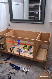 making bathroom cabinets: build a diy bathroom vanity build drawers cabinet