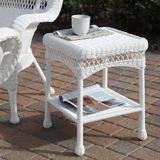 sahara all weather outdoor wicker end table hayneedle intended for patio accent masterkv025
