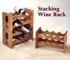 stackable wine racks wood stacking rack plans