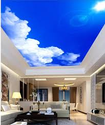 3d wallpaper for home decoration sunlight blue sky cloud murals wallpaper for living room ceiling stereoscopic
