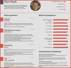 Volunteer Resume Template Luxury Elon Musk Resume 17 Best Images ...