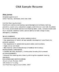 Sample Cna Resume Resume Sample With No Experience Resume Examples