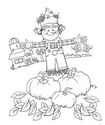 scarecrow coloring sheets cute pages gallery free printable activity boy workshee