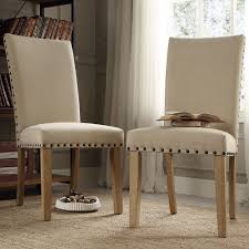 Living Room Chair Covers Slipcovered Parsons Chairs Sure Fit Cotton Duck Shorty Dining