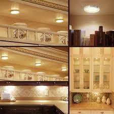 interior cabinet lighting. 3 led puck lights under cabinet kit 6w 510lm 3000k le interior lighting h