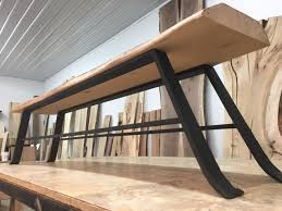 custom wood table legs 16 inch tall solid steel bench legs bench base set solid steel