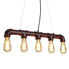 onepre industrial steampunk ceiling pendant light chandeliers with vintage edison bulb retro rustic red color