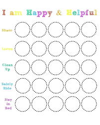 Smiley Face Behavior Chart Printable Behavior Charts School Online Charts Collection