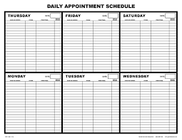 Best Photos Of Printable Appointment Schedule Free