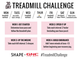 Treadmill Chart For Beginners The 30 Day Treadmill Workout Challenge Thats Actually Fun