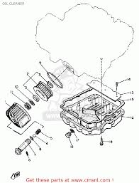 Yamaha xj650 maxim 1981 b usa oil cleaner schematic partsfiche
