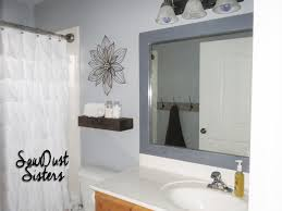 diy bathroom mirror frame no mitering use wood glue and a staple