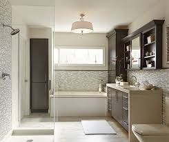 painted cabinets in a casual bathroom