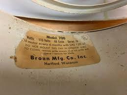 vintage broan 11 1 2 ceiling wall