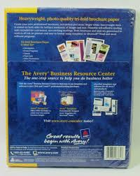 Avery Tri Fold Brochure Templates Avery Tri Fold Brochures 8384 For Inkjet Printers 70 Sheets 80 Seals Nos Sealed