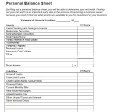 Sample Personal Balance Sheet 9 Balance Sheet Template Word Personal Uk Free Opening Day