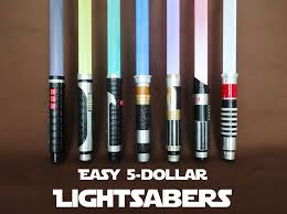 picture of easy 5 lightsabers