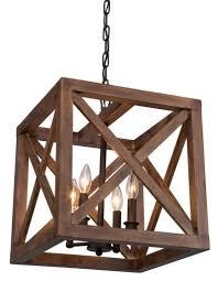 wood chandelier lighting. Deluxe Lamp 4 Bulbs Walnut Collingwood Chandelier Wood Lighting
